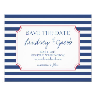 Nautical Stripes Save the Date Invites