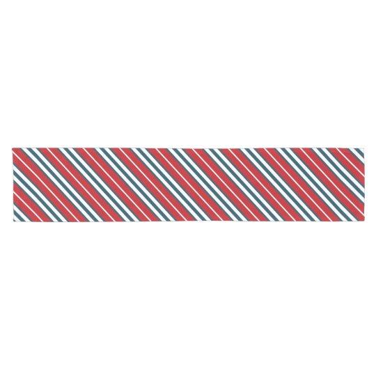 Nautical stripes short table runner