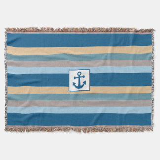 Nautical Stripes throw blanket