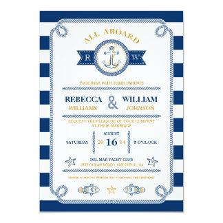 Nautical Stripes Wedding Invitation