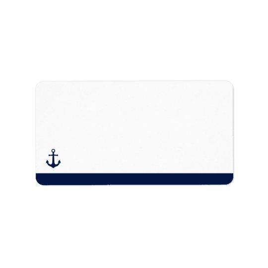 Nautical Style Anchor | Blank Address Address Label