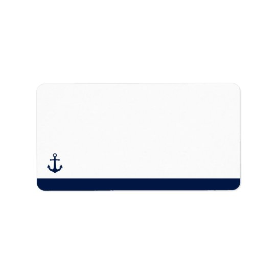 Nautical Style Anchor | Blank Address Label