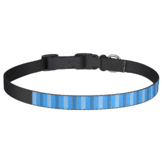 Nautical style blue painted wood pet collar