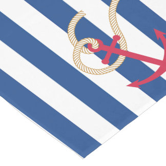 Nautical Table Runner with Rope and Anchor