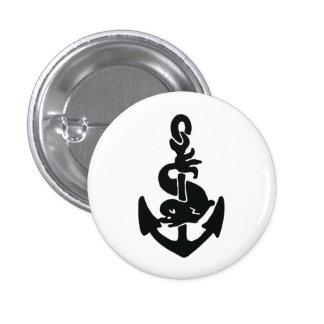 Nautical tattoo 3 cm round badge
