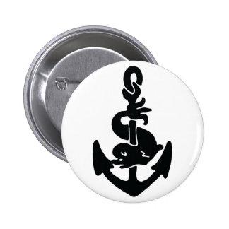 Nautical tattoo 6 cm round badge
