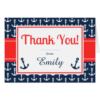 Nautical Thank You Card