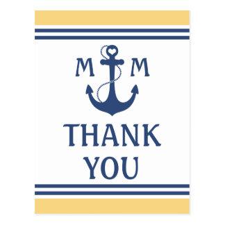 Nautical Thank You Postcard