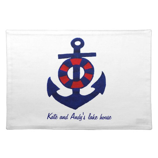 Nautical Theme Anchor and Buoy Place Mat