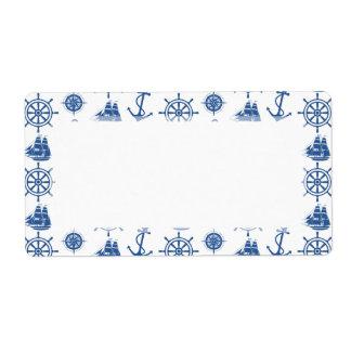 Nautical Theme Anchor Blue and White
