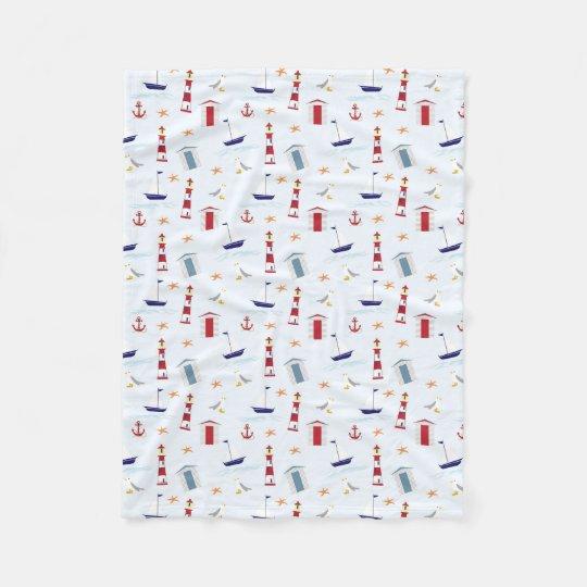 """Nautical Theme Fleece Blanket, 30""""x40"""""""