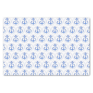 Nautical Theme | Navy Blue Anchors Tissue Paper