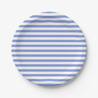 Nautical Theme - Navy Striped Paper Plate