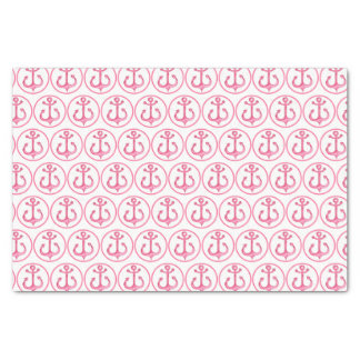 Nautical Theme | Pink Anchors Tissue Paper