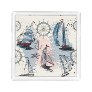 Nautical Theme. Regatta. Acrylic Tray