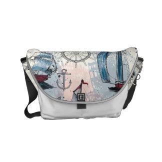Nautical Theme. Regatta. Courier Bag