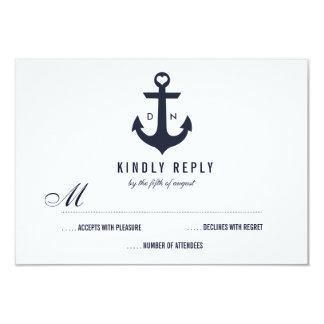 Nautical Theme Wedding RSVP | Wedding 9 Cm X 13 Cm Invitation Card