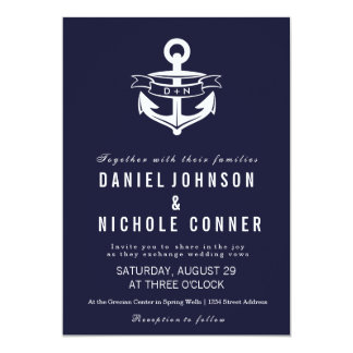 Nautical Theme | Weddings 13 Cm X 18 Cm Invitation Card