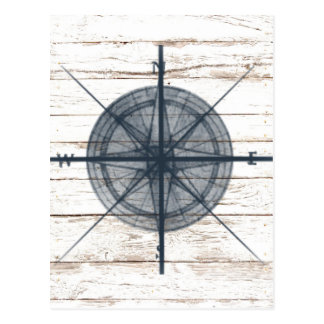 nautical themed compass postcard
