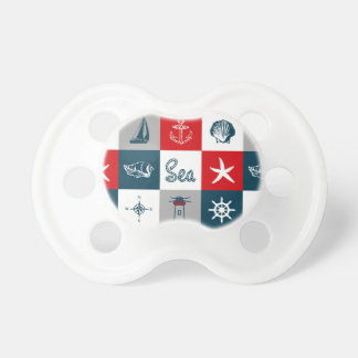 Nautical themed design baby pacifiers