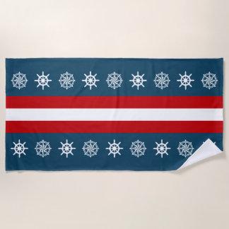 Nautical themed design beach towel
