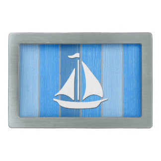 Nautical themed design belt buckle