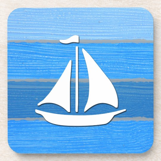 Nautical themed design beverage coasters