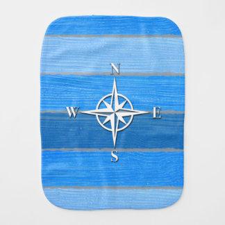 Nautical themed design burp cloth