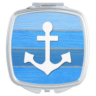 Nautical themed design compact mirror