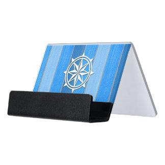 Nautical themed design desk business card holder