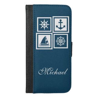 Nautical themed design iPhone 6/6s plus wallet case