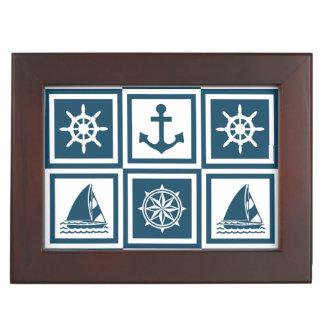 Nautical themed design keepsake box