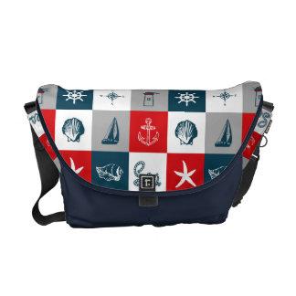 Nautical themed design messenger bag