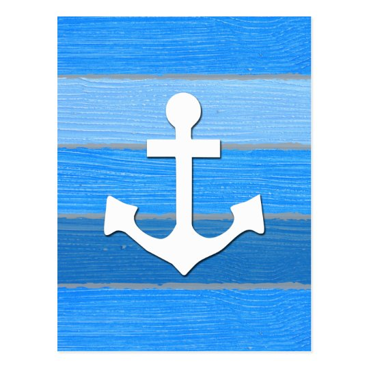 Nautical themed design postcard