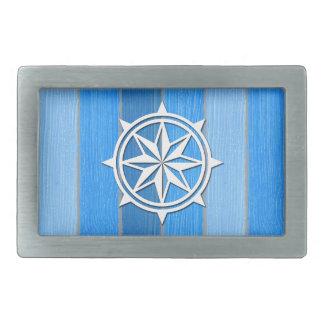 Nautical themed design rectangular belt buckles