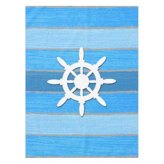 Nautical themed design tablecloth