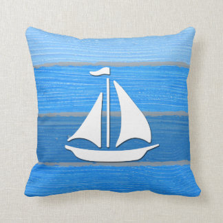 Nautical themed design throw pillow