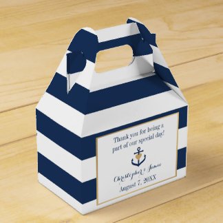 Nautical themed Favor Boxes - Anchor Design Party Favour Boxes
