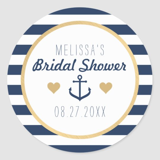 Nautical Themed Favour Stickers - Bridal Shower