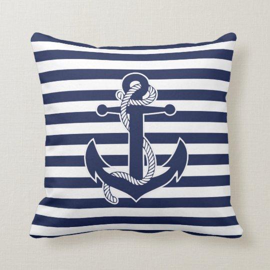 Art Décor: Nautical Themed Gifts Throw Pillows Anchor