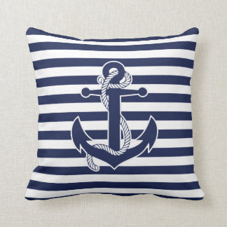 Nautical Themed Gifts Throw Pillows Anchor