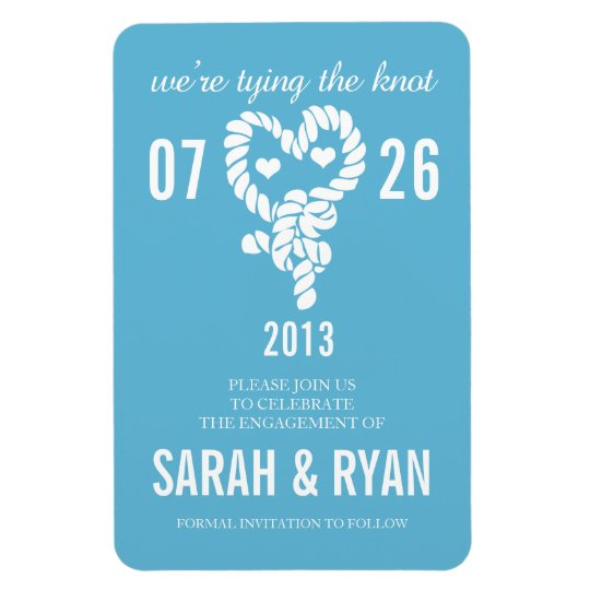 Nautical Tie the Knot Blue Save the Date