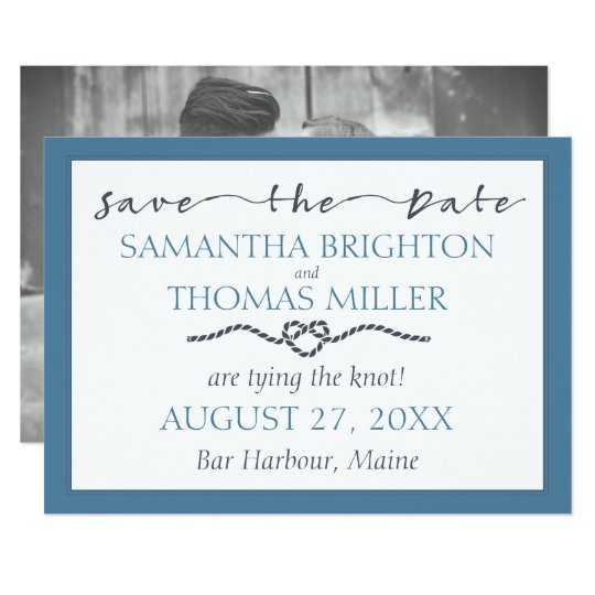 Nautical Tying The Knot | Save The Date Custom Card