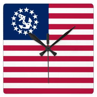 Nautical USA Sailing Flag Clocks