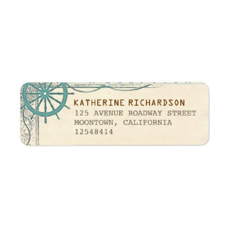 Nautical vintage address labels