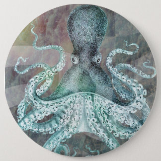Nautical Vintage Octopus 6 Cm Round Badge
