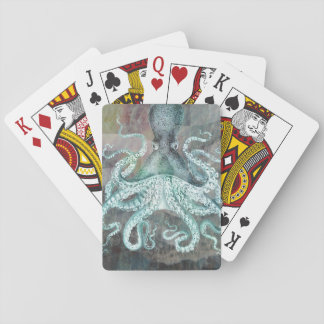 Nautical Vintage Octopus Playing Cards