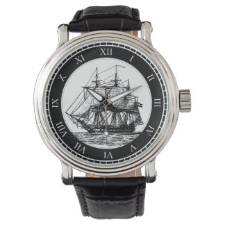 Nautical Vintage Sailing Ship Watch