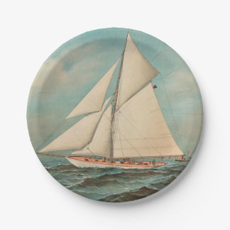 Nautical Vintage Yachts Racing #1 Paper Plate