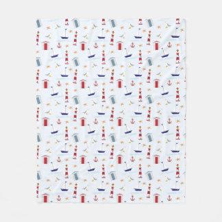 Nautical Warmth Fleece Blanket